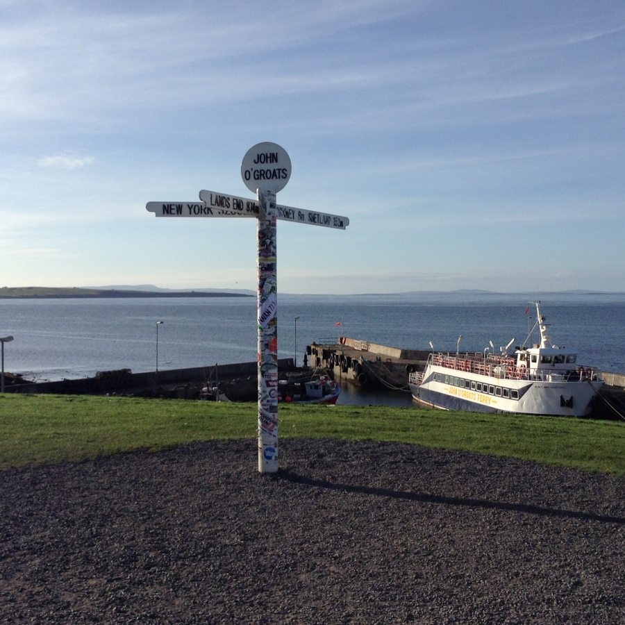 Arrived at John O'Groats on this beautiful evening. Tired after a long journey but keen to get started tomorrow.